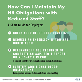 HR Obligations Reduced Staff
