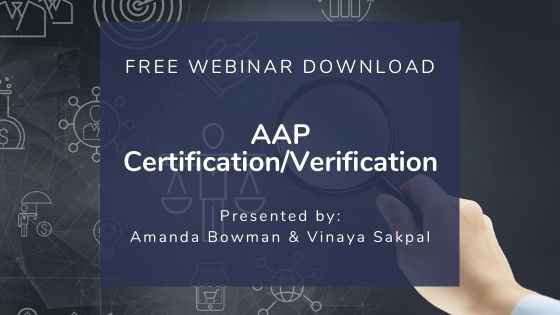 AAP Verification Webinar